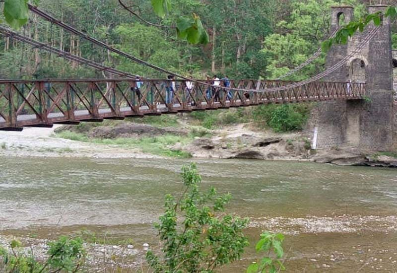suspension bridge at corbett