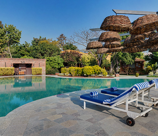 swimming pool at corbett